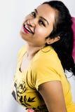 Belle fin femelle indienne de modèle de visage image stock