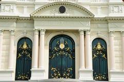 Belle finestre europee in Tailandia. Immagini Stock Libere da Diritti