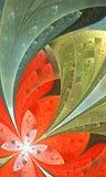 Belle fleur de fractale dans le style de fenêtre en verre teinté Vous pouvez Photo libre de droits