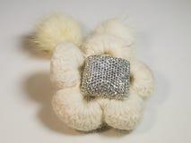 Belle fleur de laine avec la fin de décoration  Photographie stock libre de droits