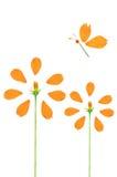 Belle fleur jaune de cosmos Images libres de droits