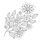 Belle fleur monochrome de découpe de vecteur Photos stock