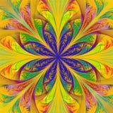 Belle fleur multicolore de fractale. illustration de vecteur
