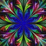 Belle fleur multicolore de fractale. Graphiques générés par ordinateur illustration stock