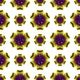Belle fleur verte Configuration florale sans joint Vecteur Photo stock