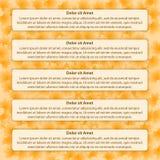 Belle foglie di autunno con infographic Immagine Stock