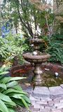 Belle fontaine avec des arbres à l'arrière-plan image libre de droits