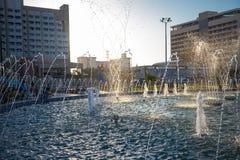 Belle fontaine en parc, vieille ville de Boukhara, l'Ouzbékistan Image stock