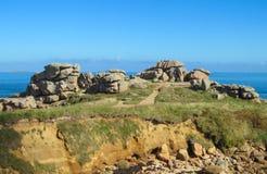 Belle formation de roche à la côte Image stock