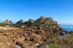 Belle formation de roche à la côte Photo stock