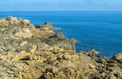 Belle formation de roche à la côte Photos stock