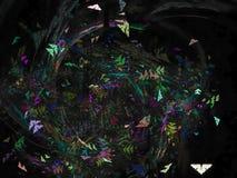 belle forme de fractale d'effet de la science de calibre de futur de papier peint mouvement magique numérique abstrait d'élégance Photo libre de droits