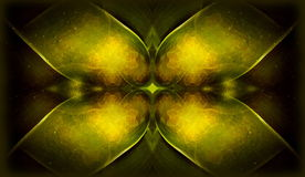 Belle fractale ornementale avec l'ornement de croix de shinig en vert illustration libre de droits