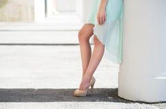 Belle gambe Fotografia Stock