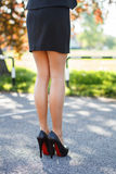 Belle gambe femminili Fotografia Stock