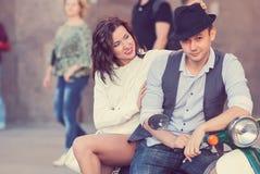 Belle giovani coppie felici Immagine Stock