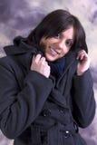 Belle giovani donne in cappotto di inverno Fotografia Stock