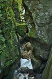 Belle gorge de Tolmin dans la partie slovène de Julian Alps images libres de droits