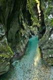 Belle gorge de Tolmin dans la partie slovène de Julian Alps photographie stock libre de droits