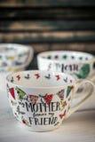 Belle grande tasse pour le jour et le 8 mars de mère Photographie stock libre de droits