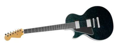 Belle guitare électrique d'isolement sur le blanc image libre de droits