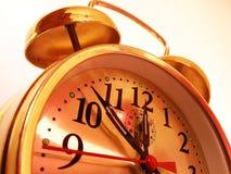 Belle horloge d'or Photo libre de droits