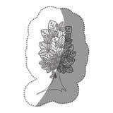 belle icône d'arbre de silhouette Image stock