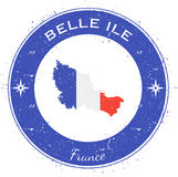 Belle Ile circular patriotic badge. Royalty Free Stock Image