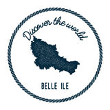 Belle Ile map in vintage discover the world. Stock Photography