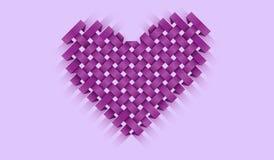 Belle illustration avec un coeur pour une carte postale ou une bannière illustration stock