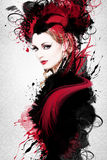 Belle illustration de femme Image stock