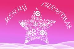 Belle illustration de Noël du snowflke blanc Photographie stock libre de droits