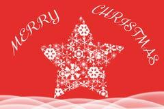 Belle illustration de Noël du snowflke blanc Photos libres de droits