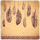 Belle illustration des plumes Photo libre de droits