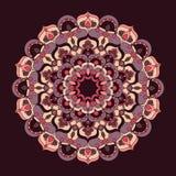 Belle illustration fleurie de mandala de vecteur de vintage illustration libre de droits