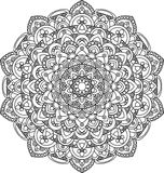 Belle illustration fleurie de mandala de vecteur de vintage illustration de vecteur