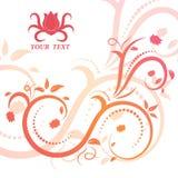 Belle illustration florale avec des remous Photos libres de droits