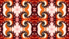 Belle illustration multicolore sans fin intermédiaire générée par ordinateur artistique abstraite de modèles des fractales 3d illustration de vecteur