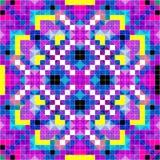 Belle illustration psychédélique de vecteur de modèle de pixels Photo libre de droits