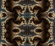 Belle illustration sans fin intermédiaire générée par ordinateur artistique abstraite de modèles des fractales 3d illustration libre de droits