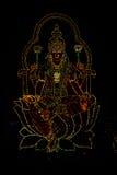 Belle image de déesse dans les lumières périodiques Photos stock