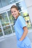 Belle infirmière de femme à l'hôpital Photo libre de droits