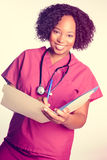 Belle infirmière de sourire photos stock