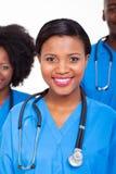 Collègues africaines d'infirmière Photos stock