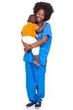 Bébé pédiatrique d'infirmière Images stock