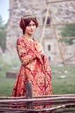 Belle Isabella des Frances, reine d'Angleterre la période de Moyens Âges images stock