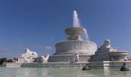 Belle Isle Fountain. Fountain on Belle Isle Detroit Michigan stock photography