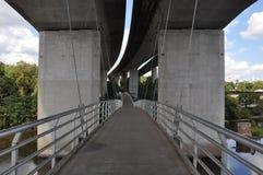 Belle Isle Pedestrian Bridge in Richmond, Virginia Royalty Free Stock Photo