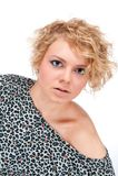 Belle jeune blonde Image stock