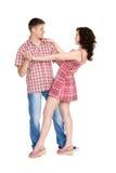 Belle jeune danse de couples Image libre de droits